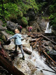 Pirmieji įspūdingi laiptai šalia krioklių. Jais lipant virpa širdis tiek nuo lengvos baimės, tiek nuo gamtos grožio ir galybės