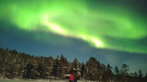 Jos didenybė Aurora Borealis