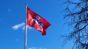 Sekmadienio ceremonija – vėliavos kėlimas