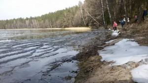 Galiausiai pasiekę ežerą tikėjomės išvysti pavasarį, o radome žiemą