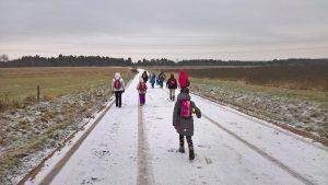 Pabiro su pirmu sniegu ir KK mažieji