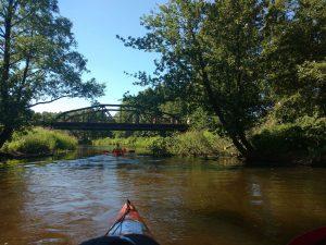 Prie senojo Gardino tilto – pirmas sustojimo punktas :)