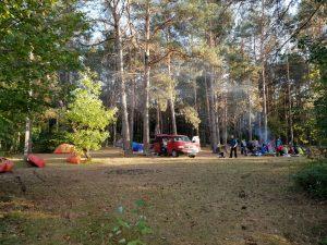 KK stovykla prie Tetervinų piliakalnio.