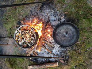 Surinktos rudens gėrybės virto gardžiu patiekalu.