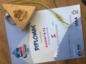 Ir diplomas, ir medalis. Ačiū organizatoriams :)