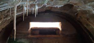 Bunkerio stalaktitai