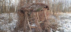 Pavėsinės stogas – iš I pasaulinio karo bunkerio