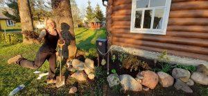 Ramunės gamtinis šedevras papuošė keliautojų namų aplinką